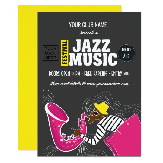 Jazz Music Festival Invitation