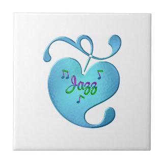 Jazz Music Love Ceramic Tile