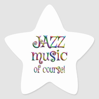 Jazz Music of Course Star Sticker