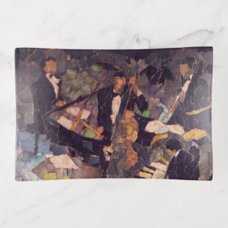 Jazz Music Quartet Trinket Tray