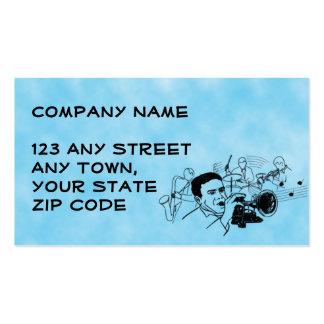 JAZZ musician design Business Card