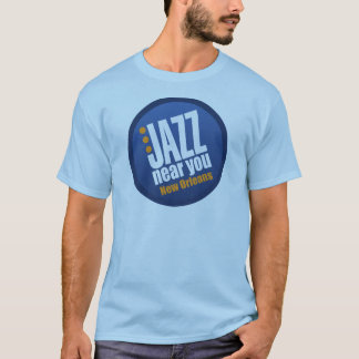 Jazz Near You New Orleans Men's Short Sleeve Basic T-Shirt