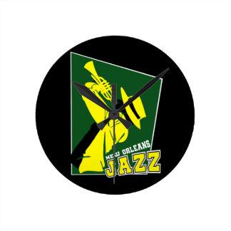 jazz new Orleans Round Clock