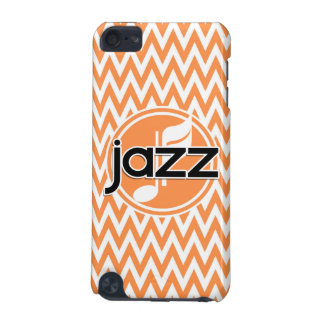 Jazz Orange and White Chevron iPod Touch 5G Cover