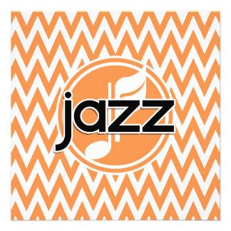 Jazz Orange and White Chevron Announcements