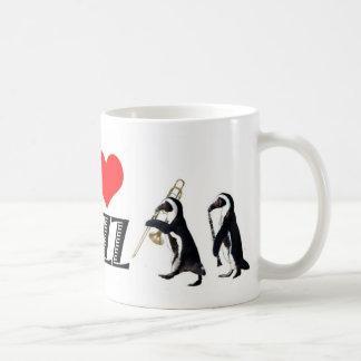 Jazz penguin mug