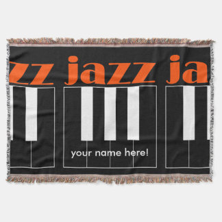 jazz piano throw blanket