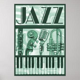 Jazz Poster Green