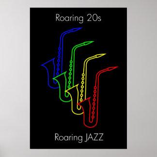 JAZZ - Roaring 20s - Roaring JAZZ Poster