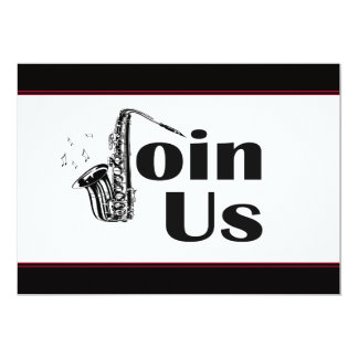 Jazz Sax Join Us Party Card