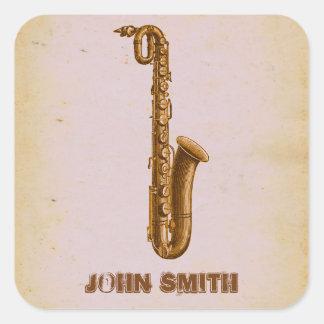 Jazz Sax Music Small Business Branding Stickers