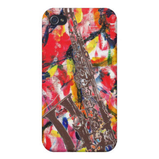Jazz Saxophone Abstract Cover For iPhone 4