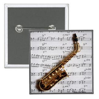Jazz Saxophone Button