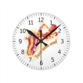 Jazz Solo Saxophone Round Clock