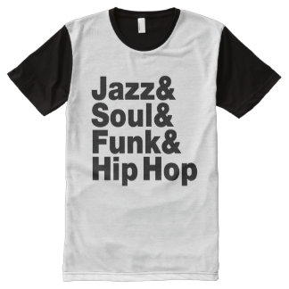 Jazz & Soul & Funk & Hip Hop All-Over Print T-Shirt