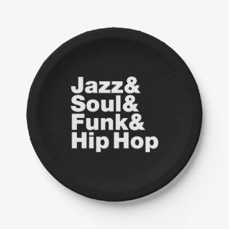 Jazz & Soul & Funk & Hip Hop Paper Plate