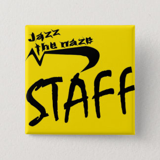 jazz staff 15 cm square badge