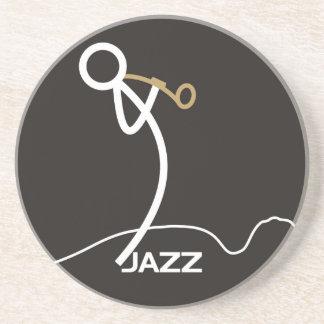 Jazz stickman coaster