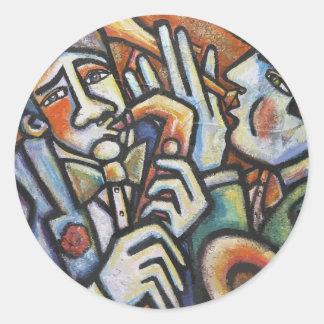 Jazz TIme Classic Round Sticker