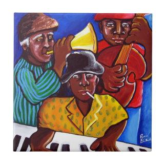 Jazz Trio African American Folk Art Tile