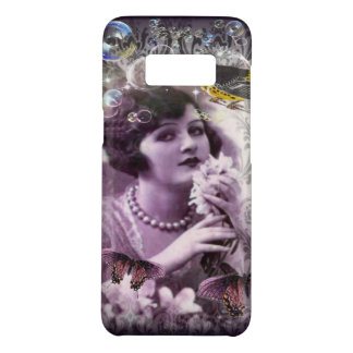 Jazz Vintage damask 1920s Lady Flapper Girl Paris Case-Mate Samsung Galaxy S8 Case