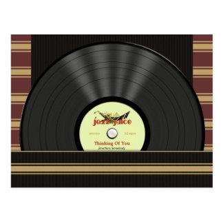 Jazz Vinyl Record Personalized postcards