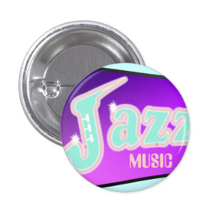 Jazz with Saxophone 3 Cm Round Badge