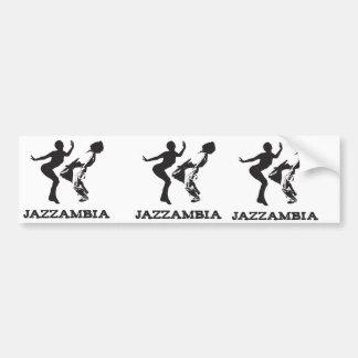 JAZZAMBIA bumper sticker White