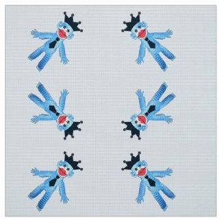 Jazzy Blue Monkey Fabric