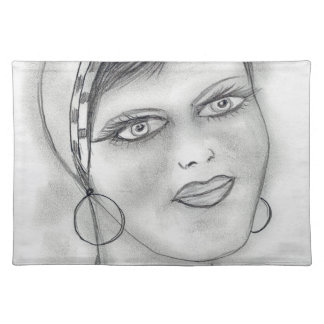 Jazzy Flapper Placemat