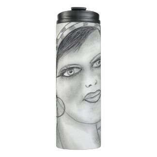 Jazzy Flapper Thermal Tumbler