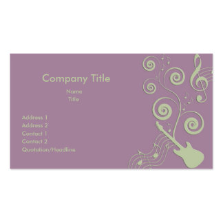 Jazzy Music Business Cards