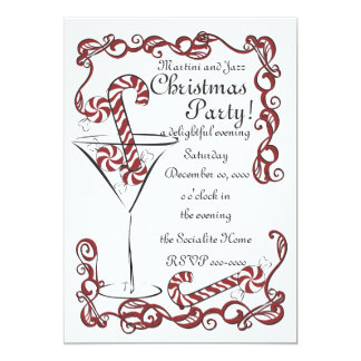 Jazzy Peppermint Martini Card