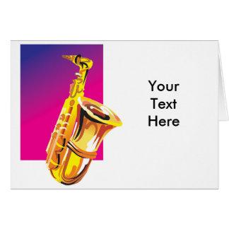 Jazzy Saxophone Card