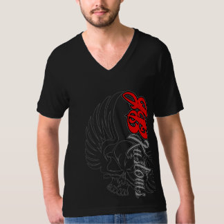 "JB Kustoms Signature ""Winged Skull"" V-neck T-Shirt"