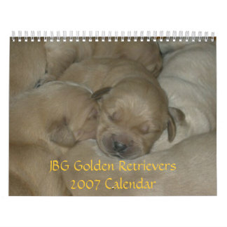JBG Golden Retrievers 2007 Calendar