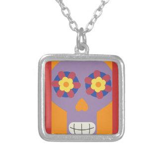 jc04 COLORFUL MEXICAN SKULL DECORATIVE CARTOON FLO Necklaces