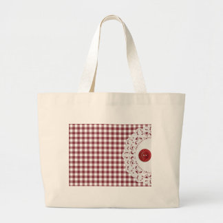 JC26 RED WHITE CHECKERED COUNTRY PATTERN SQUARES D BAGS