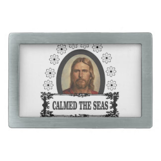 jc calmed the seas belt buckle