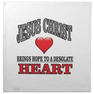 JC hope to a desolate heart Napkin