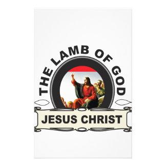 jc the lamb of god stationery