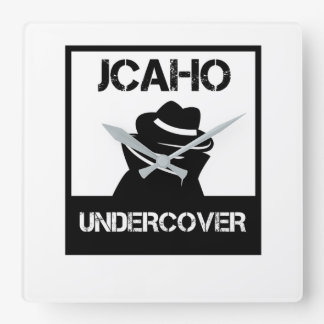 JCAHO Undercover Square Wall Clock
