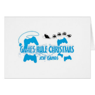 JCW Games Games Rule Christmas Greeting Card