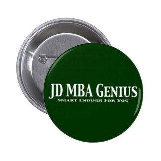 JD MBA Genius Gifts Pins