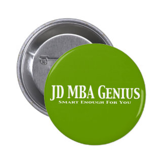 JD MBA Genius Gifts Buttons