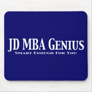 JD MBA Genius Gifts Mouse Pads