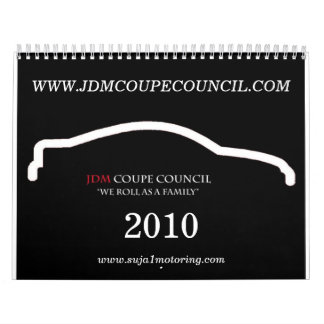 JDM COUPE COUNCIL 2010 WALL CALENDARS