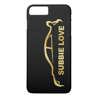 JDM Subby Love (Subaru WRX STI) Gold SIlhouette iPhone 8 Plus/7 Plus Case