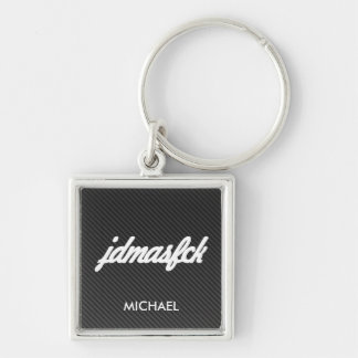 jdmasfck with faux carbon fiber key ring
