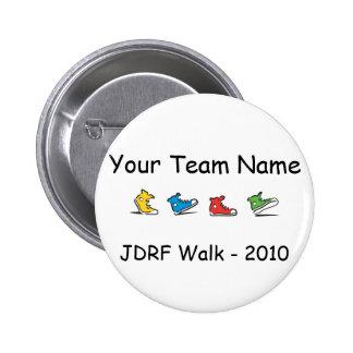JDRF Walk team button 2010